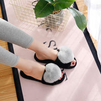 Warm Slippers black and grey