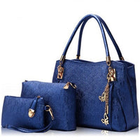 Blue purse set