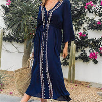 Blue summer long dress