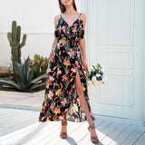 backless flower summer dress
