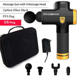 Fiber black massage gun professional