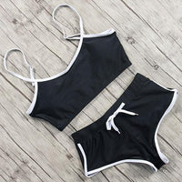 Black summer garment in black