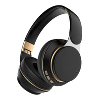 black foldable wireless headphone