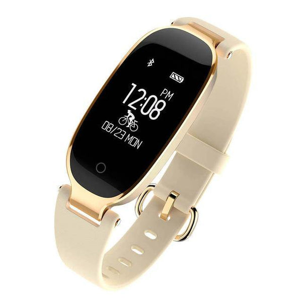 white golden smartband women