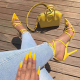 Thin Belt Combination Fish Mouth Super High Heels - Sunshine Store