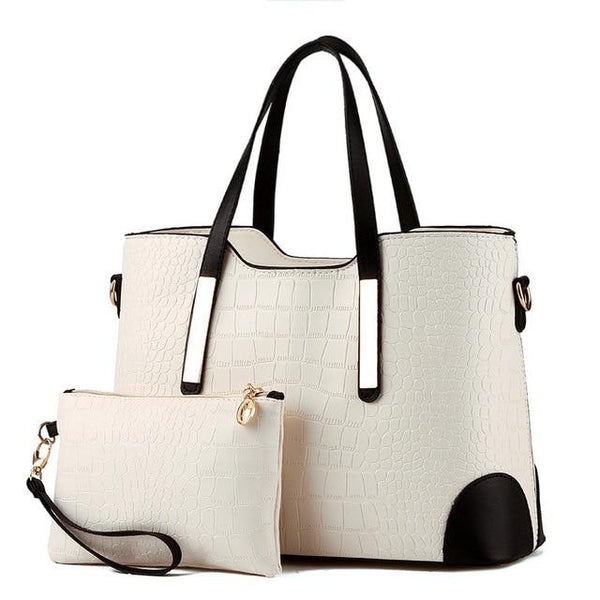 Designer purse and bag white