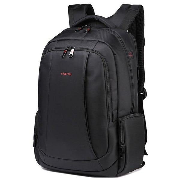 Professional black backpack waterproof