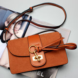 designer leather purse brown