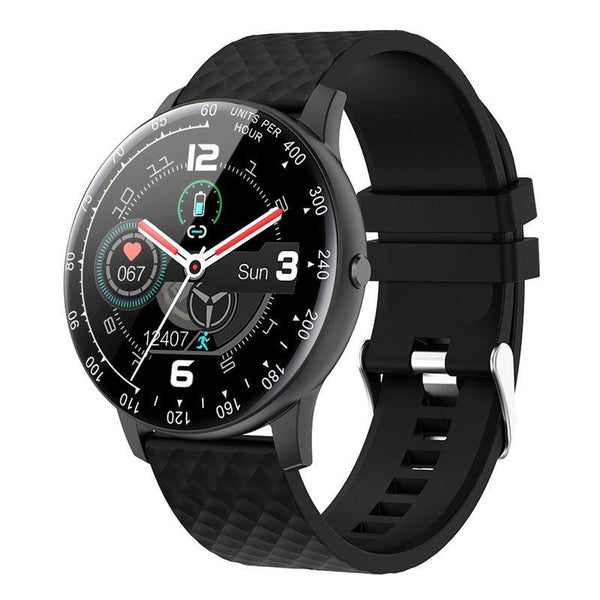 silicon band black smartwatch