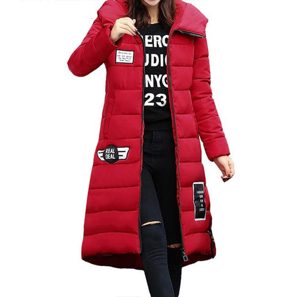 Winter Hooded Warm Padded Casual Solid Zipper Pocket Thick Jacket - Sunshine Store