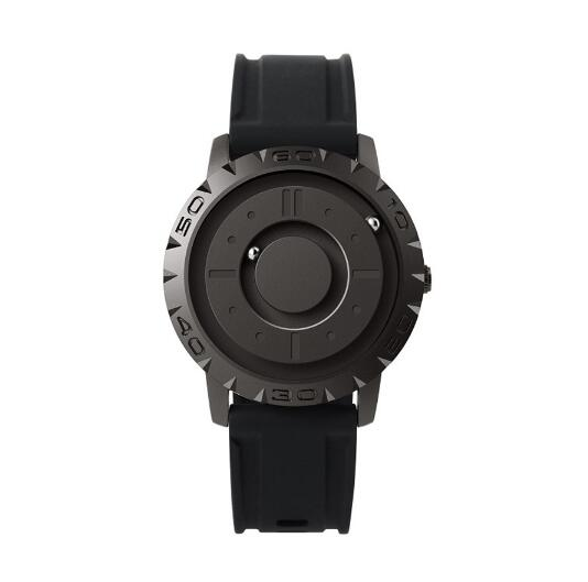 Black magnetic watch