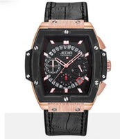All black gold case chronograph men watch