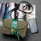 green designer purse