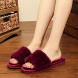 Warm Slippers in red