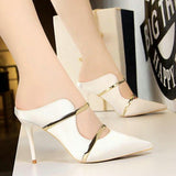 White high heel