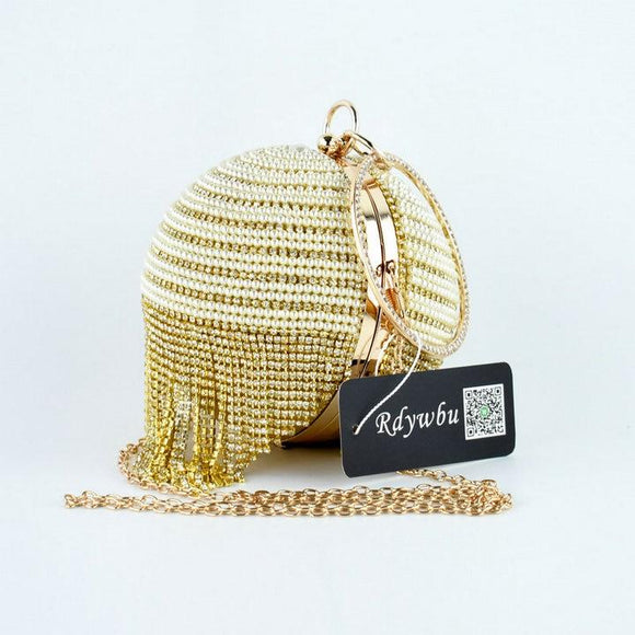 Diamond Tassel Pearl Beaded Clutch Bags - Sunshine Store