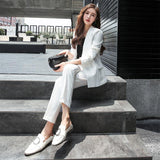 white summer blazer