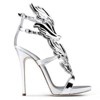high heel silver dragon