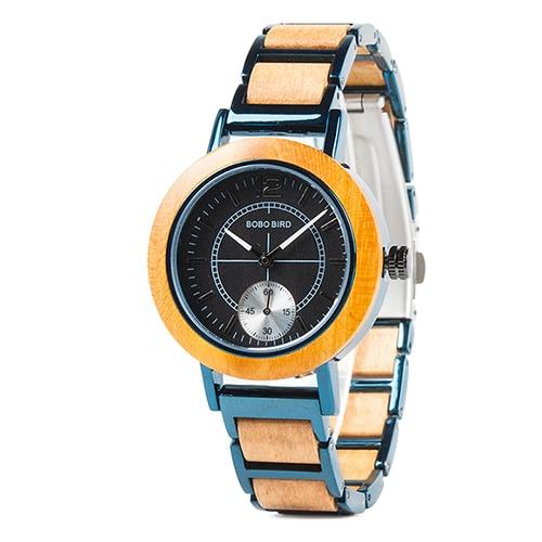 Stylish wooden wristwatch
