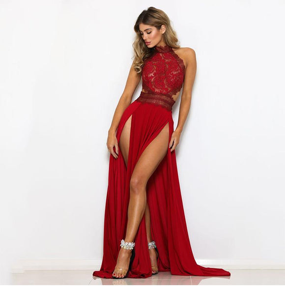 Elegant red long dress