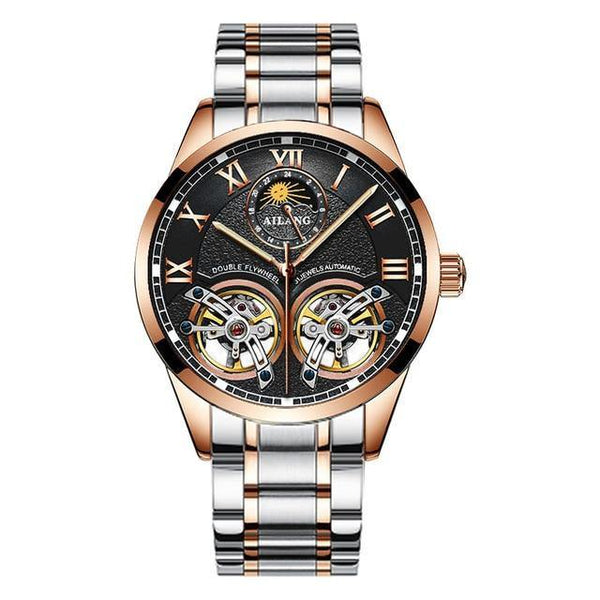 Double Flywheel Luxury Wristwatch Men
