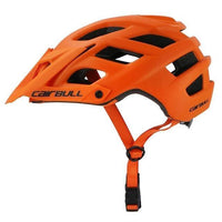 orange cycling helmet