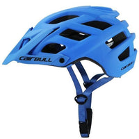 blue cycling helmet