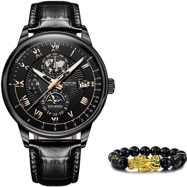 Luxury Moon Phase Wristwatch Men