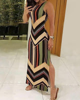 traditional pattern colorful maxi dress