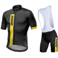 All black cycling jersey suit with shoulder support for the short.