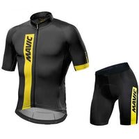 Black MTB cycling jersey suit