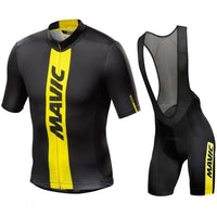 All black cycling jersey with short shoulder support straps.