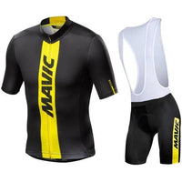 Black top black short with white shoulder straps cycling jersey suit for summer