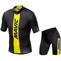 All black cycling jersey set for summer