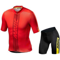 Red top Black short MTB cycling jersey suit