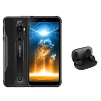 black and black rugged smartphone 6 gb ram and 128 gb rom + earphones