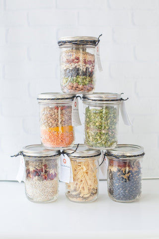 jars in a soup