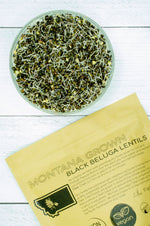 Load image into Gallery viewer, Montana Grown Beluga Lentils • 4 lbs Resealable Kraft Bag