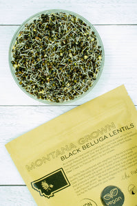 Montana Grown Beluga Lentils • 4 lbs Resealable Kraft Bag