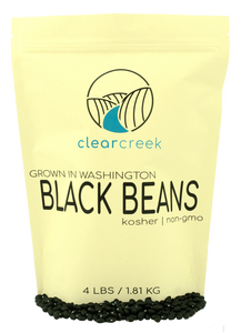 Washington Grown in Black Beans • 4 lb Resealable Bag