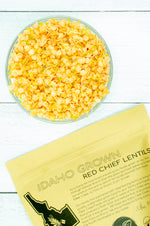 Load image into Gallery viewer, Idaho Grown Red Lentils • 4 lbs Resealable Kraft Bag