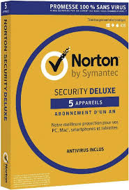 Norton Security Deluxe - 5 Postes - Jaune