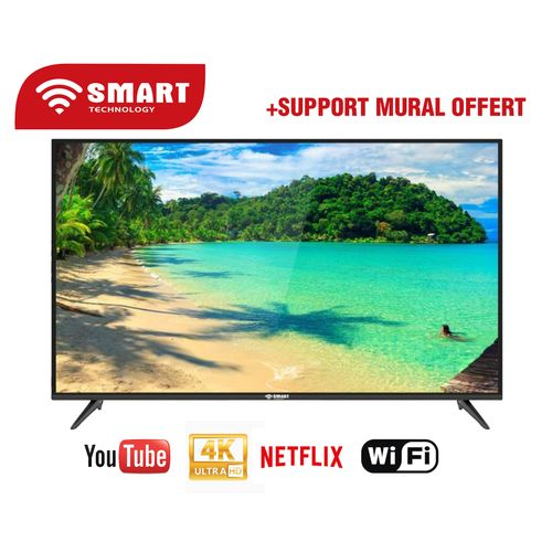 SMART TECHNOLOGY Smart TV - LED - 50 Pouces -4K - Android Wifi - STT-5018SK- Noir - Garantie 06 Mois