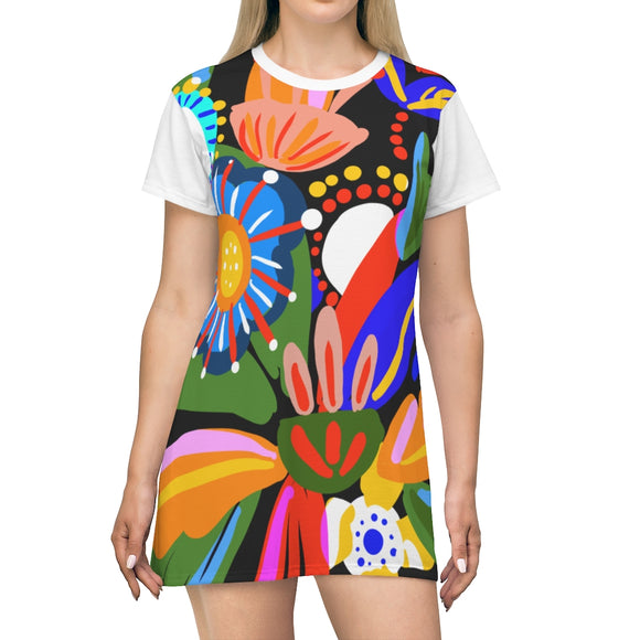 FLOWERS & COLORS T-Shirt Dress