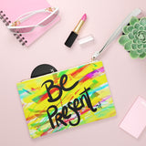 BE PRESENT CLUTCH BAG