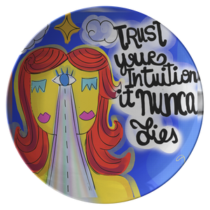 TRUST YOUR INTUITION PLATE