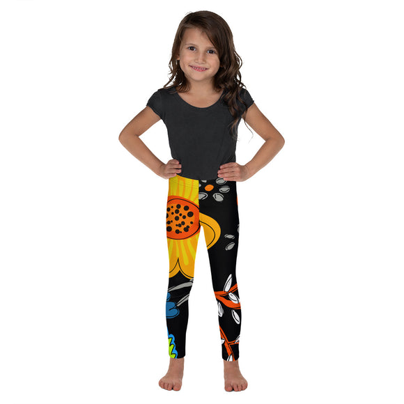 FLORES BLACK KID'S LEGGINGS
