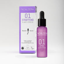 Laden Sie das Bild in den Galerie-Viewer, Facialderm Serum Booster 01 Lifting & Anti-Stress
