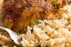 Grilled Chicken With Buttered Rice And Salad