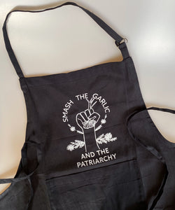Smash The Garlic And The Patriarchy Apron